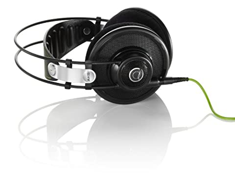 AKG Q701 Premium Quincy Jones Signature Line Over-Ear Kopfhörer mit AKG-Referenzsound und Abnehmbarem Audiokabel, Optimiert für DJs Kompatibel mit Apple iOS und Android Geräten - Schwarz