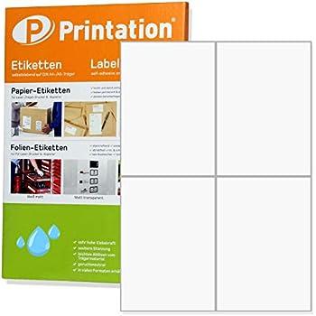 400 Etiketten 105mm x 148mm auf A4 für Laser und Tinte