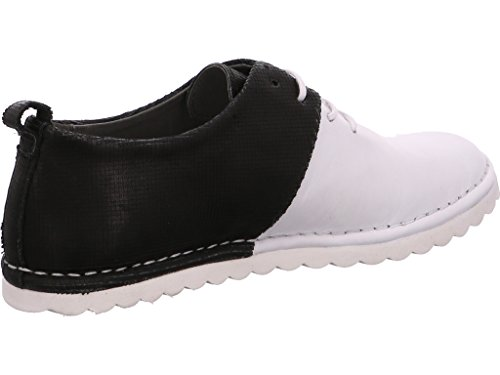 Felmini A149 White+black, Scarpe stringate donna white+black