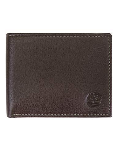 Timberland Herren Geldbörse Leder mit aufgesetzter Klapptasche - Braun - Einheitsgröße (Herren Id Passcase Geldbörse)