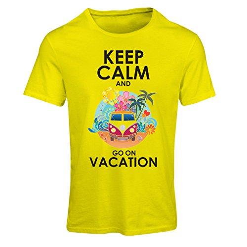 Maglietta Donna Andate a Vacanza, abiti carini, abiti da spiaggia, usura resort Giallo Multicolore