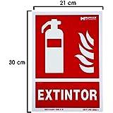 WOLFPACK 15051200 - Cartel Extintor 30x21 cm