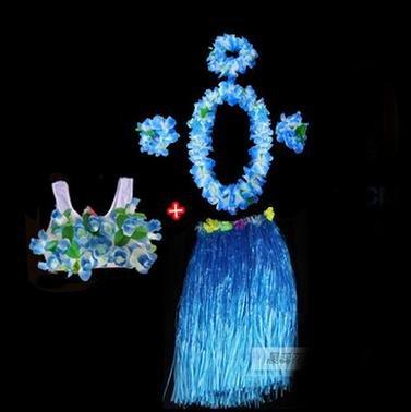WDBS-Falda-de-vestir-guirnalda-conjunto-de-6-piezas-falda-de-vestido-de-mascarada-falda-de-Hawaii-blue-80cm