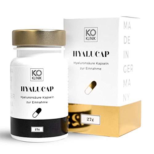 Hyaluronsäure & Kollagen Booster Anti-Aging, Haare & Gelenke - 350 mg Hyaluron + 200 mg Kollagen pro Kapsel, 30 Kapseln, vegan - von KÖ-KLINIK