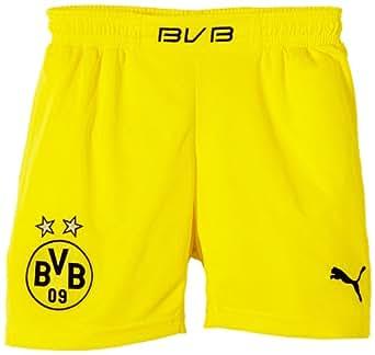 PUMA Kinder BVB Kids Home Replica Shorts, Blazing Yellow/Black, 164, 743567 02
