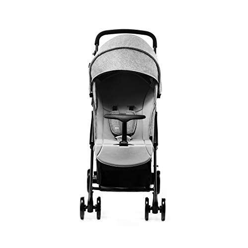 Kinderkraft Lightweight Stroller LITE UP, Baby Pushchair, Buggy, Compact Folding, Ajustable Footrest, with Accessories, Rain Cover, Footmuff, Cup Holder, from Birth to 3.5 Years, 0-15 kg, Gray