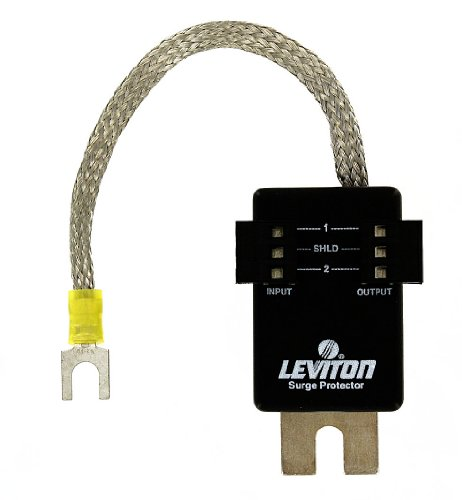 Leviton 3420-9 9.6 Volt DC, Pole, Communication Module Surge Protective Device, 3-Pin Header Connector, Surface Mounted by Leviton (Devices Surface Mounted)