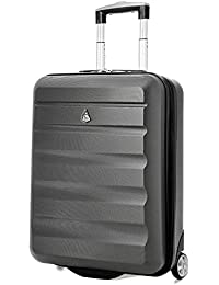 Aerolite 55x40x20 Taille Maximale Ryanair ABS Bagage Cabine à Main Valise Rigide Léger 2 roulettes