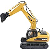 Huina 1550 Metal Excavator Toy RC Charging 1:14 With 15 Channel Remote Control