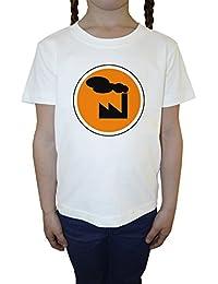 Fábrica Blanco Algodón Niña Niños Camiseta Manga Corta Cuello Redondo Mangas White Girls Kids T-shirt