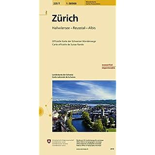 225T Zürich Wanderkarte: Hallwilersee - Reusstal - Albis (Wanderkarten 1:50 000)
