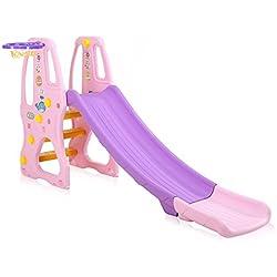 Baby Vivo tobogán para niños/tobogán en Púrpura/Rosado