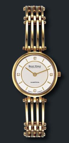 Bruno Söhnle Damen Analog Quarz Uhr mit Edelstahl beschichtet Armband 17-33103-242