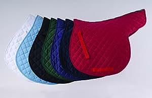 Baumwolle gesteppt Pferd Satteldecke mit Rhinegold Markenware getapte Wirbelsäule. Größe COB, Farbe schwarz
