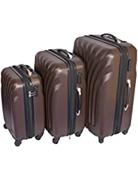 "RKV Hardside Suitcase Set With Wheels, 20"" (50.8 Cm) +24"" (61 Cm) +28""(71 Cm), (COFFEE, 20 INCH)"