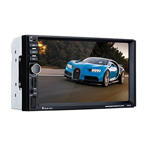 Excelvan 2 Din Stereo-Autoradio MP5 7 Zoll HD TFT Touchscreen Navigation GPS Fernbedienung Stereo Bluetooth Freisprecheinrichtung Mirror Link, FM,SD,USB,BT,Aux, Rückfahrkamera und Europa Karte