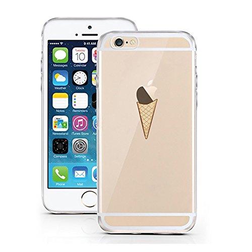 iPhone 6 6S Hülle von licaso® kompatibel für das Apple iPhone 6 & 6S aus TPU Silikon Eistüte Waffel Muster ultra-dünn schützt Dein iPhone 6 Case Design Schutzhülle Bumper -