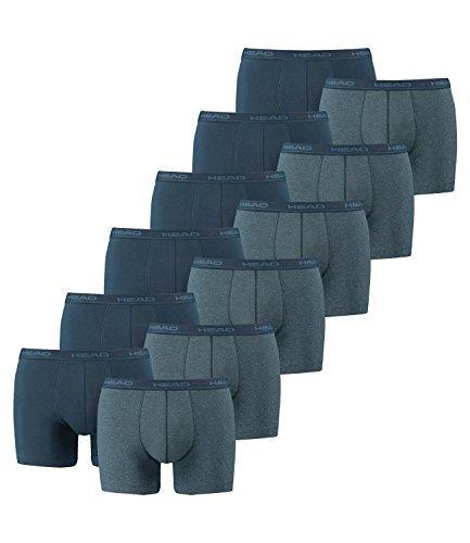 HEAD Herren Boxershorts 841001001 12er Pack, Wäschegröße:XL;Artikel:Blue Heaven (Head Shorts)