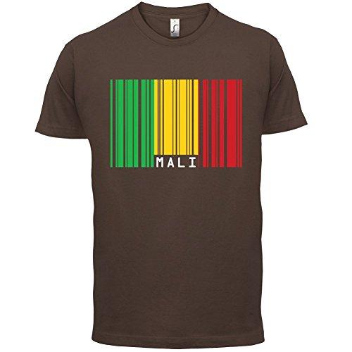 Mali / Republik Mali Barcode Flagge - Herren T-Shirt - 13 Farben Schokobraun