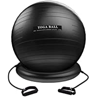 Homitt Gymnastikball, 330 lbs Yoga-Ball Anti-Burst Pezziball, Büro Sitzball 65cm 75cm inkl. Fusspumpe und Maßband, Fitnessball für Training zu Hause und Gym