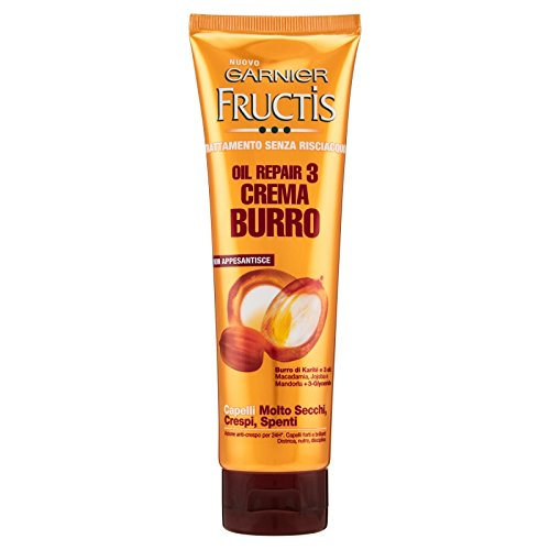 Garnier Fructis Oil Repair 3 Crema Burro Capelli Molto Secchi, Crespi, Spenti 150 ml