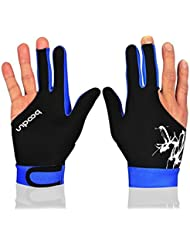 Excellent.Advanced® tres dedos piscina billar profesional guantes Unisex accesorios piscina modo