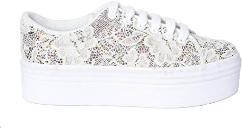 scarpe da ginnastica JC Play Zomg bassa in pizzo crema crema crema e glitter   La Qualità Del Prodotto    Uomini/Donne Scarpa  65d7dc