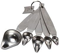 sevy Measuring Spoon, Stainless Steel, Set of 5
