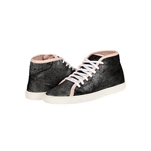 Tedish Baskets Pour Femme Chaussures De Marche En Cuir Dames Lacets Confortables Décontracté Girlstd005 Esme Cosmique Cosmique
