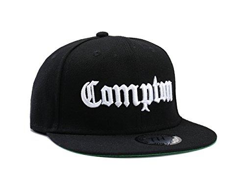 Casquettes de Baseball Réglable Noir Compton (Black Snapback)