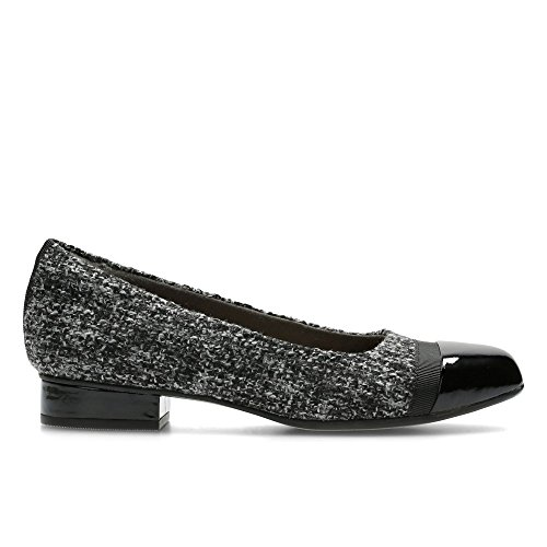 Clarks Casual Mujer Zapatos Keesha Rosa En Textil Gris