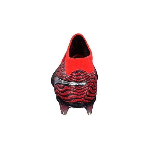 Puma One 18.1 Syn FG - Crampons de Foot - Noir Argent Rouge Blast silver