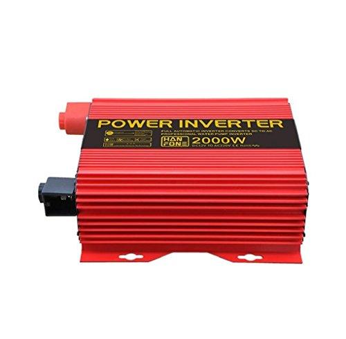 Solar PV Auto Inverter Wechselrichter Power Inverter Power Inverter Power 2000 W DC 12 V auf 220 V AC mit Zigarettenanzünder Adapter (rot) Pv-solar-power