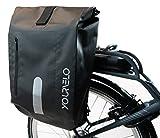 YourVelo - Fahrradtasche für Gepäckträger mit Laptopfach - 25L Volumen - 100% Wasserdicht - Schwarz - als Gepäckträgertasche & Rucksack einsetzbar
