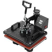 32-430 ℉ Máquina de transferencia de calor, 0~250 ° C Impresora de prensa de calor 8 en 1, para placa de taza(European standard 220V)