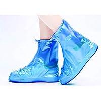 BBJOZ Stivali da Pioggia in Silicone, Copri Scarpe in Silicone for Esterni Impermeabili, Calzini Antipioggia Impermeabili sacche poetascarpe (Color : Blue, Size : M)
