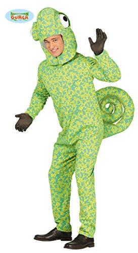 Camäleon Kostüm für Erwachsene zu Karneval Halloween Motto Tierkostüm, Größe:M