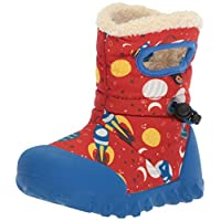 Bogs Baby B-Moc Waterproof Insulated Kids/Toddler Winter Boot, Space Print/Red/Multi, 8 M US