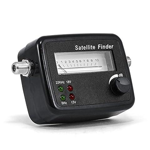 CSL Satfinder / Satellitenfinder mit Pegelskala - Zeigeranzeige / Messgerät mit Signalton - HD-fähig - hochwertiges Messgerät zur optimalen Positionierung / Justierung von Satelliten-Antennen / digitalen Satanlagen - hoher Eingangsempfindlichkeit - Dämpfungsregler für optimale Anpassung der Signalstärke - leicht ablesbare Skala - inklusive