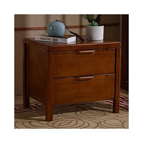 QYJpB Massivholz Nachttisch 2 Schubladen Nachttisch Aktenschrank Zeitgenössische Vintage Schlafzimmer Wohnzimmer Schrank Beistelltisch (Color : B) - 2 Schubladen Zeitgenössischer Schrank