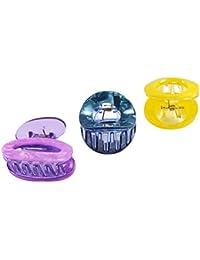Saamarth Impex Multi Design Multi Color Jaw Claw 3 Piece Hair Clips SI-2388