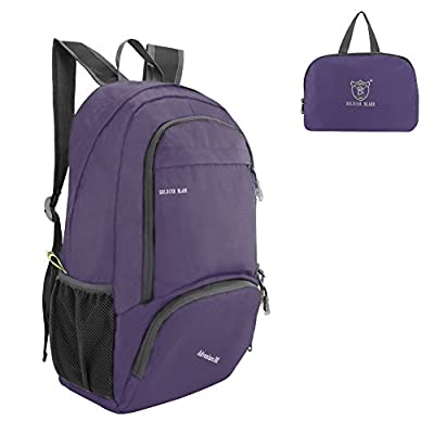 SueH Design 30L Water Resistant Daypack, Outdoor Lightweight Foldable Backpack,Purple - hiking-backpacks