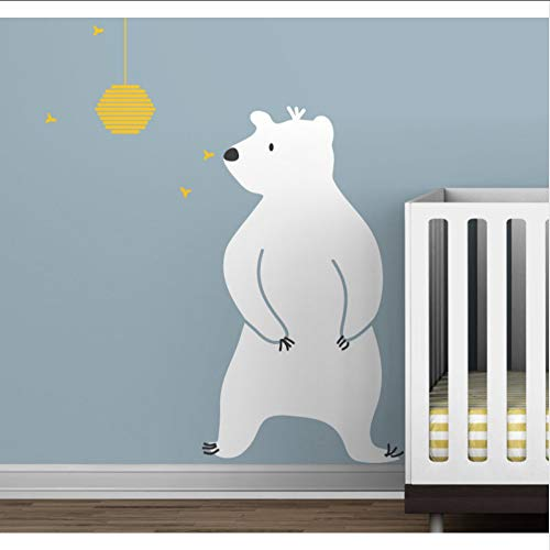 (Hjcmhjc) Baby Zoo Bär Und Bienenstock Wandtattoo Spaß Kinder Spielzimmer Kinderzimmer Wand Dekor Vinyl Wandkunst Aufkleber Moderne Baby Wandbilder Tapete 53 * 94 Cm
