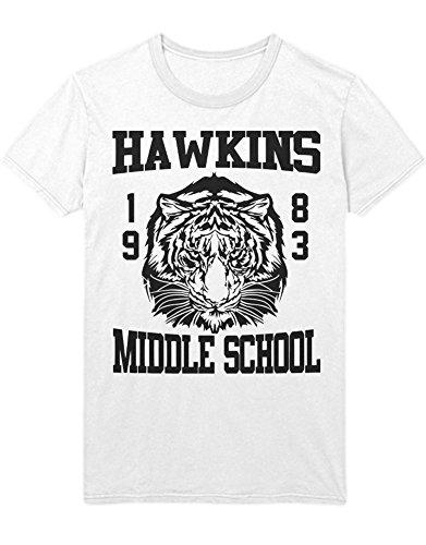 Hypeshirt Shirt Stranger Things Hawkins Middle School C000055 Weiß
