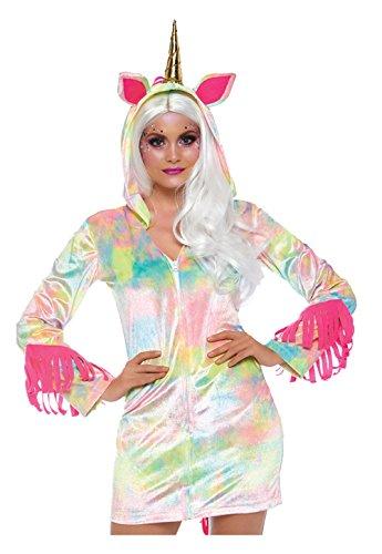 Leg Avenue 8672401101 Verzaubertes Einhorn Kleid mit reißverschluss, Damen Karneval Kostüm Fasching, Mehrfarbig, Größe S (EUR34-36)