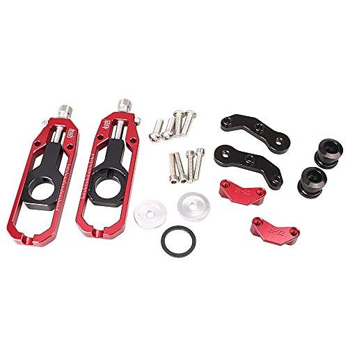 gzyf réglage de chaîne de moto pour Kawasaki ZX10R 2011–2015réglage en aluminium Rouge
