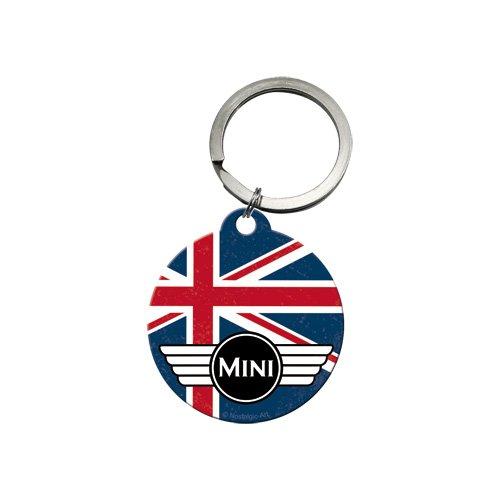 Auto-mini-jack (Nostalgic-Art 48018 Mini - Union Jack, Schlüsselanhänger Rund 4 cm)