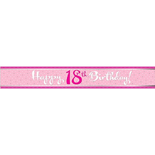 Perfectly Pink Foil Banner Happy 60th Birthday