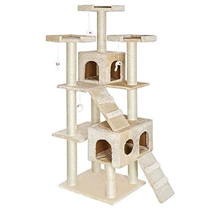 TecTake rascador para gatos árbol para gatos sisal juguetes 186cm - disponible en diferentes colores - (Beige | no. 400524)