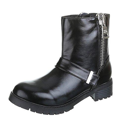 Damen Schuhe, ADRIA, BOOTS Schwarz Silber CILLA